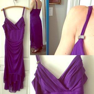 Purple chiffon formal dress
